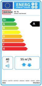 Energiestandard Label Air 70