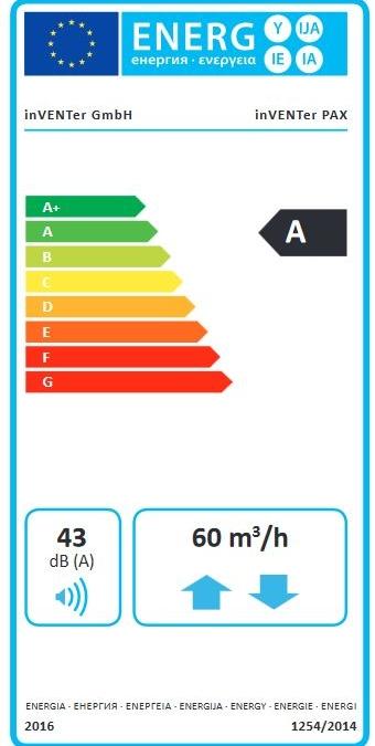 inVENTer Pax Energielabel