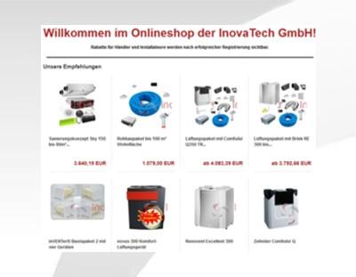 zugang zum Onlinshop von InovaTech