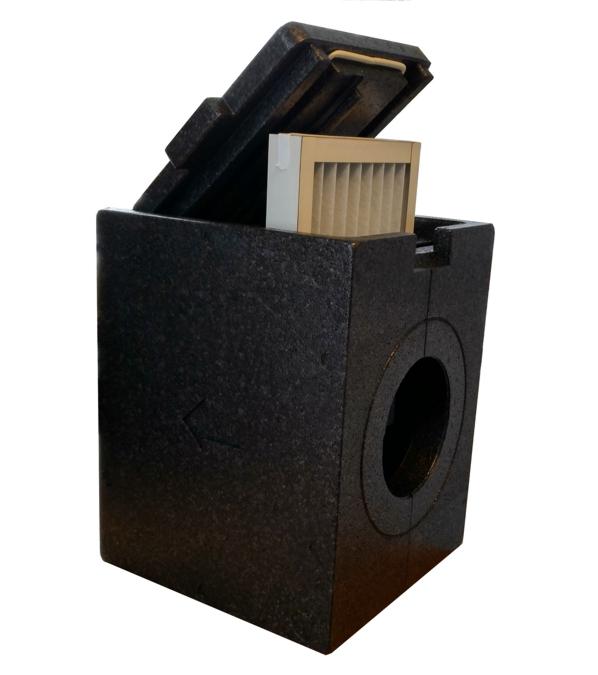 Die bereits isolierte Filterbox