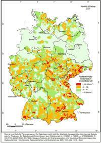 Karte Radon
