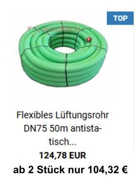 flexibler Lüftungsschlauch DN75