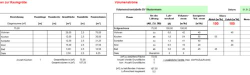 Beispiel der Auslegugn von Inovatech GmbH