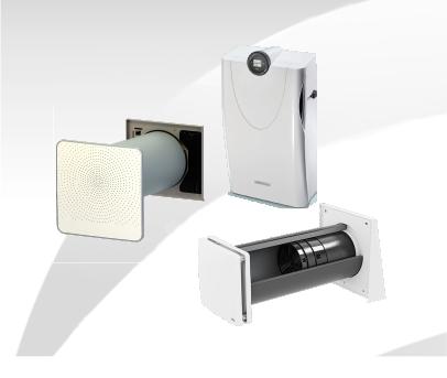 dezentrale Lüftungsgeräte verschiedener Hersteller